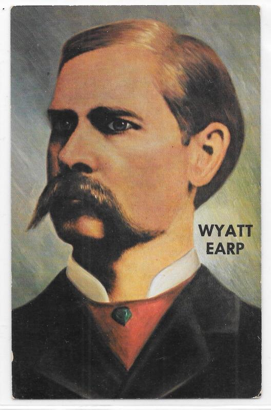 Wyatt Earp Color Portrait Old West Gunslinger Tombstone Arizona AZ Postcard