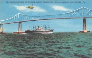 Manatee & Pinellas Counties Florida~Helicopter Above Ship Channel Bridge~1950