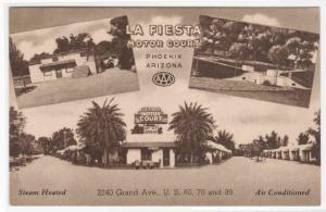 La Fiesta Motor Court Motel US 60 70 Phoenix Arizona postcard
