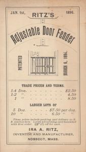 TC: NOBSCOT , Massachusetts , 1890s ; adjustable Door Fender