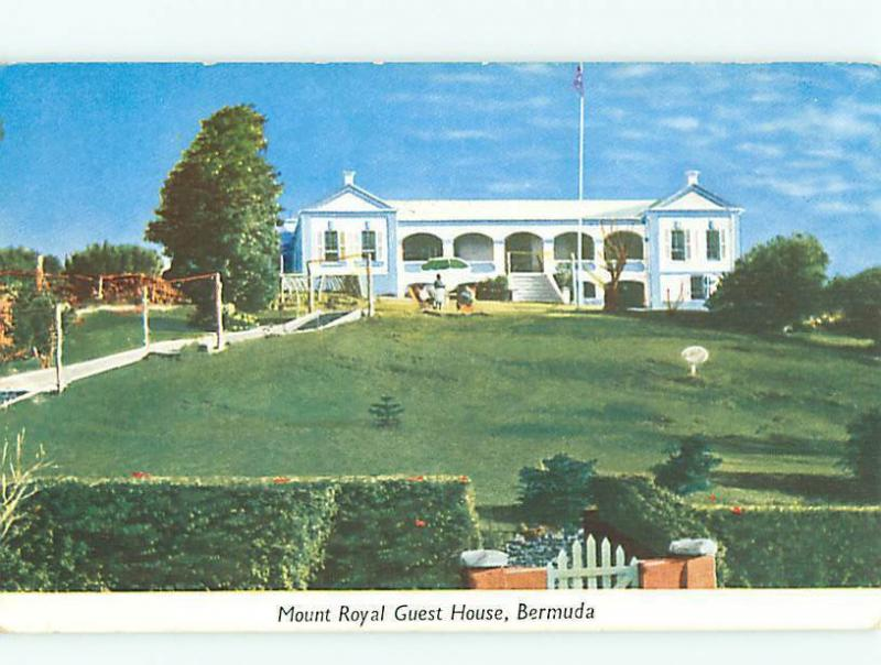 Vintage Post Card Mount Royal Guest House Hotel Bermuda Caribbean  # 3714