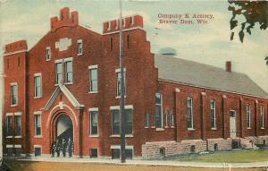 Beaver Dam Wisconsin~Soldiers @ Watch~Company K National Guard Armory~1910