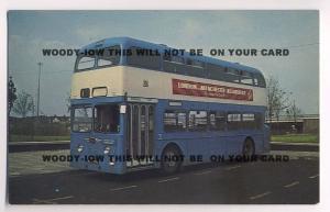 tm116 - Derby Corporation Bus No 195 - postcard