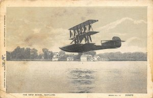 WWI Patriotic~US Military New Model Triplane~Passed by Censor~Underwood c1917 PC