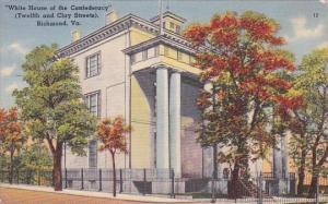 White House Of The Confederacy Richmond Virginia 1950