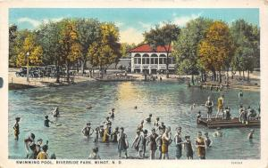 Minot North Dakota~Riverside Park Swimming Pool~Lots of Kids in Water~1920s