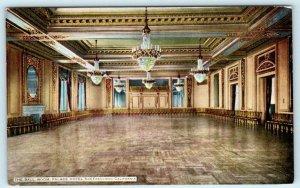 SAN FRANCISCO, California CA  Interior BALLROOM at PALACE HOTEL c1910s  Postcard