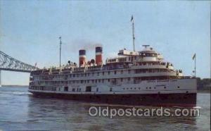 Saguenay Cruise Ship, Canada Steamship Lines, Steamer Ship Ships Postcard Pos...