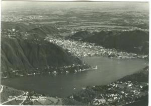 Italy, COMO, a Primo Bacino dal M. Bisbino, Lago di Como, unused real photo