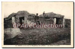 Postcard Ancient Pornic Megalithes the mound Les Allees Covered