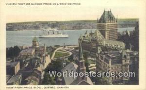 Quebec Canada, du Canada Price Building, Ve du port de Quebec Prise de L'edif...
