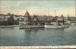 Belfast ME Boat Landing c1910 Postcard