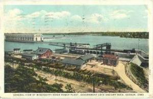 Mississippi River Power Plant,Dry Dock,Keokuk,IA,1930