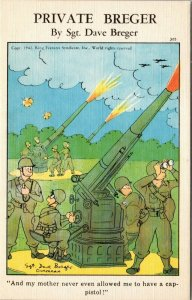 Private Breger By Sgt Dave Breger 1942 Comic WWII Military Militaria Artillery