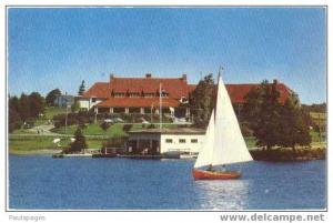 Lakeside Inn C.P.R. Summer Hotel Yarmouth Nova Scotia, NS, Canada, Chrome