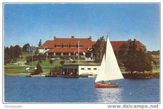 Lakeside Inn C.P.R. Summer Hotel Yarmouth Nova Scotia, NS, Canada, Chrome