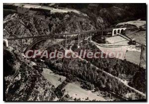 Old Postcard Aerial view of Garabit Viaduct over the Truyere