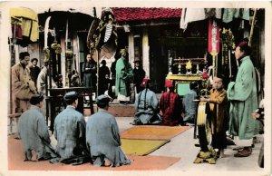 CPA AK INDOCHINA Nord Vietnam Ceremonie communale VIETNAM (957180)