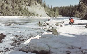 Fishing , Kakisa river , N.W.T., Canada , 50-60s