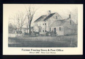 Rochester, Massachusetts/MA/Mass Postcard, Former Fearing Store & Post Office