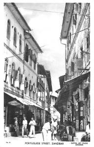 Zanzibar Portuguese Street Business District Real Photo Postcard