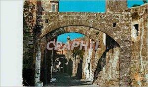 Modern Postcard Rhodes Old Picturesque City