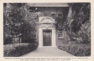 Principal Entrance Of Monastery St John Of God Los Angeles California Albertype