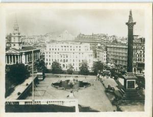 UK, London, Trafalgar Square, 1910s-20s Real Photo Snapshot