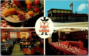 Culver City, California Postcard STERN'S FAMOUS BARBECUE Restaurant BBQ c1970s