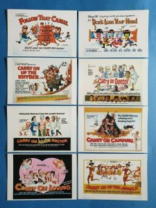 OFFICIAL Set of 8 Carry on Film Postcards, Series 1 (1997) 27Z