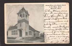 WATERVILLE MAINE ME Free Baptist Church UDB Postcard PC