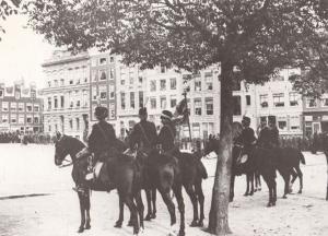 Vaandelparade Amstelveld Amsterdam in 1893 Postcard