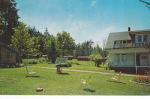 Lawn Chairs Outside Kaufman's French Creek Lodge and Motel, Parksville, Briti...