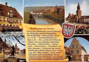 Heilbronn am Neckar, Rathaus Statue Town hall River Bridge Panorama