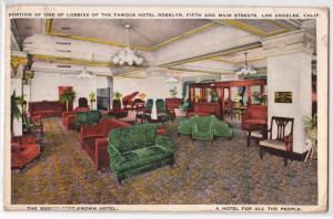 Lobby, Hotel Rosslyn, Los Angeles CA