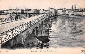 Le Pont Saint Laurent Macon France Unused
