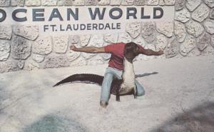 FORT LAUDERDALE, Florida; Alligator wrestling, Ocean World, 40-60s