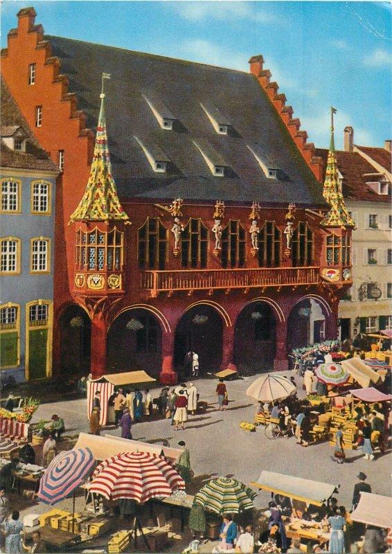 Postcard Germany Friburg im Briesgau Kaufhaus