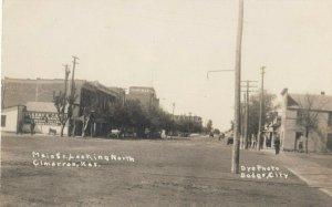 RP: CIMARRON , Kansas , 1900-10s ; Main Street , Looking North