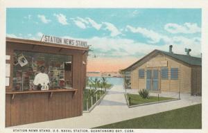 GUANTANAMO BAY , Cuba , 1900-10s ; Naval Station News Stand
