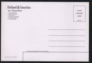 MS Maasdam Holland America Lines colour  unused