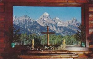 Altar And Window Chapel Of The Transfiguration Moose Wyoming 1959