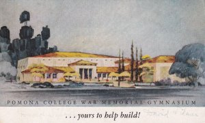 CALIFORNIA, 1940-60s; Pomona College War Memorial Gymnasium