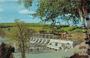 New Brunswick Canada~Beechwood Hydroelectric Plant~1960s Postcard