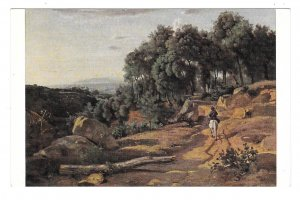 View Near Volterra Painting Corot Artist National Gallery of Art DC Postcard