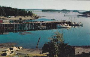 Wharf Fishing Village, Bay Of Fundy, Canada, 1940-1960s