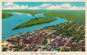 Kentucky Paducah Aerial View Junction  Of Ohio & Tennessee Rivers