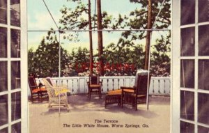 THE TERRACE, THE LITTLE WHITE HOUSE, WARM SPRINGS, GA Pres. Roosevelt died here