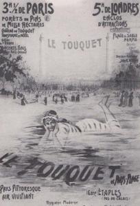 Advertising Poster Vintage Le Touquet Paris France French Swimming Postcard