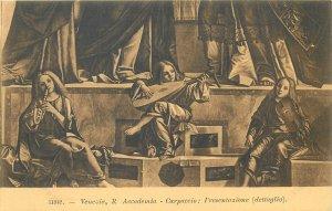 Postcard Italy Venice Carpaccio l resentzione